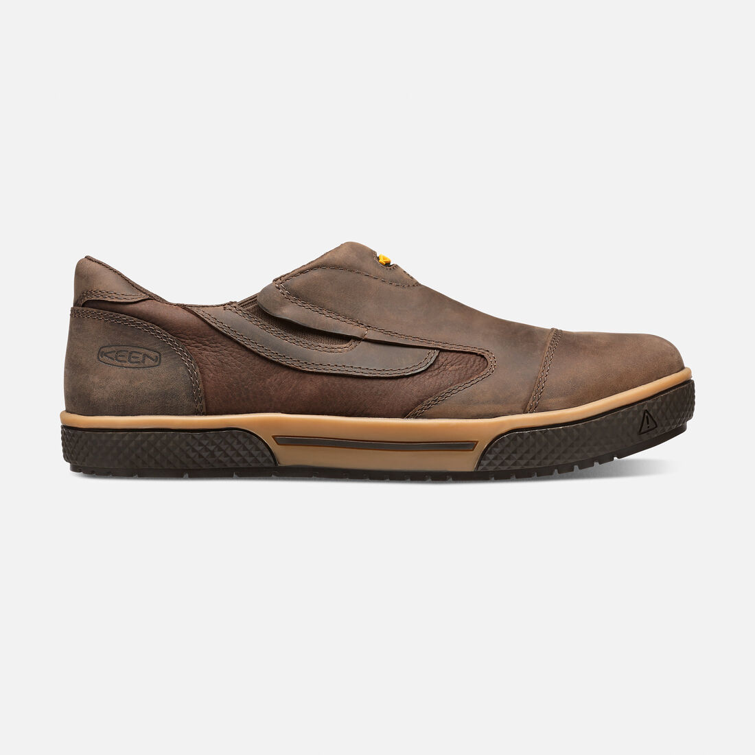 Men's Destin Slip-On ESD (Steel Toe) in Cascade Brown - large view.