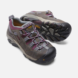 Women's Detroit Low (Steel Toe) in Monument/Amaranth - small view.