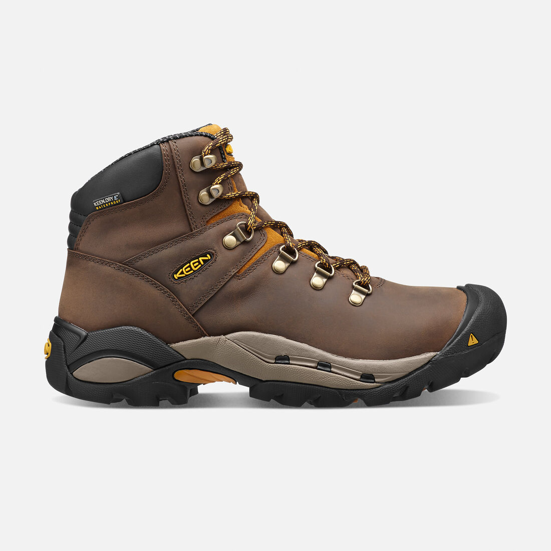 Men's Cleveland (Steel Toe) in Cascade Brown/Inca Gold - large view.