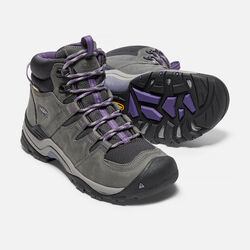 Women's Gypsum II Waterproof Mid in Earl Grey/Purple Plumeria - small view.