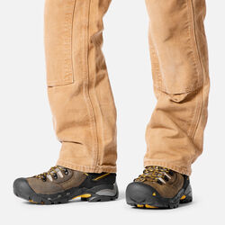 """Men's Pittsburgh 6"""" Boot (Steel Toe) in  - on-body view."""