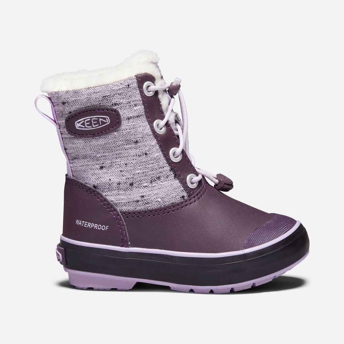 Little Kids' Elsa Boot in Plum/Pastel Lilac - large view.