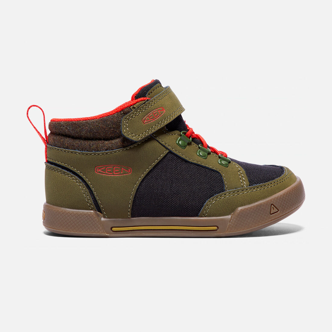 Little Kids' ENCANTO WESLEY II HIGH TOP in Dark Olive/Black - large view.
