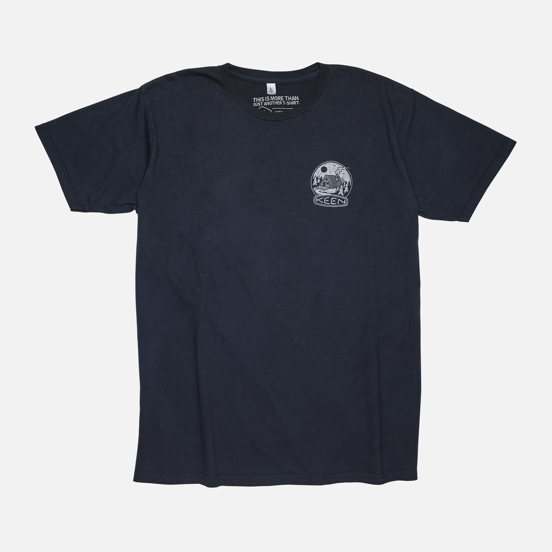 Men's 'Mountains to Sea' T-Shirt in Black - large view.