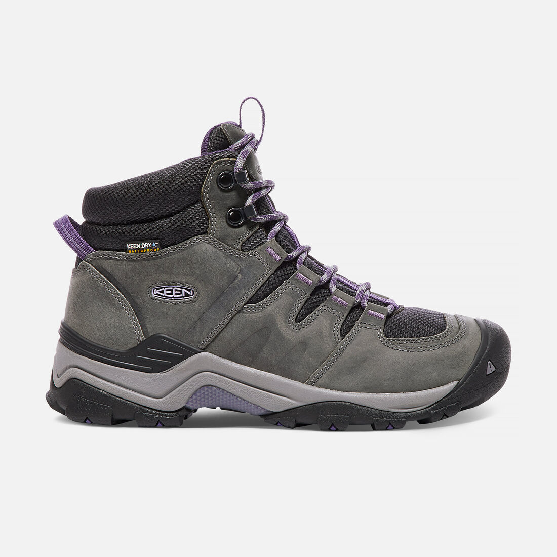 Women's Gypsum II Waterproof Mid in Earl Grey/Purple Plumeria - large view.
