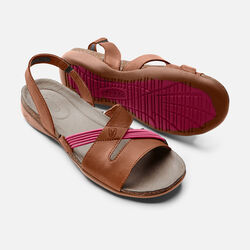 Women's Dauntless Strappy II in Tortoise Shell/Anemone - small view.