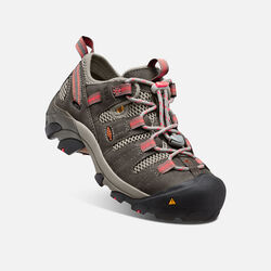 Women's Atlanta Cool ESD (Soft Toe) in Gargoyle/Hot Coral - small view.