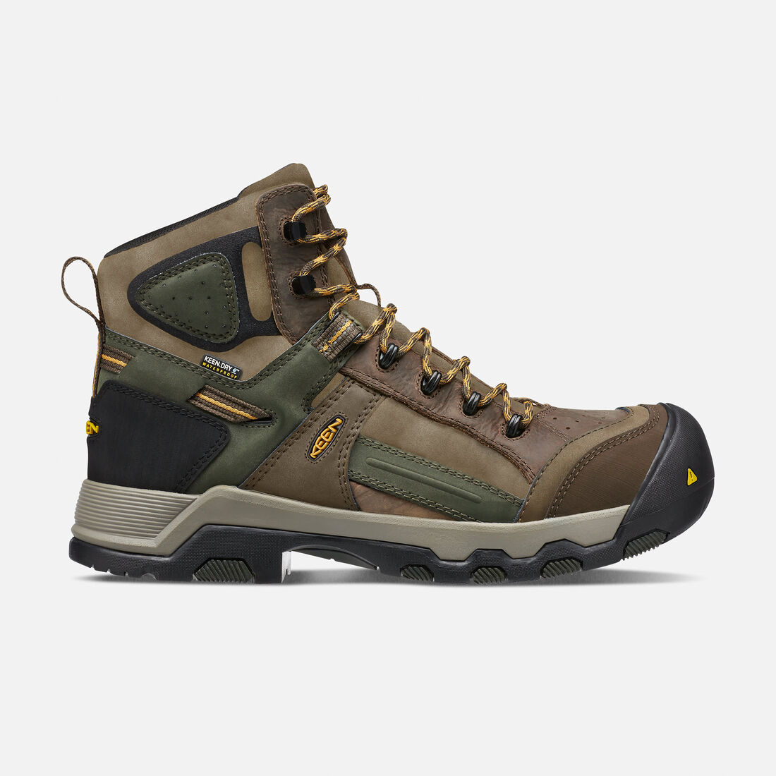 Men's DAVENPORT AL Waterproof Mid (Composite Toe) in Shitake/Forest Night - large view.
