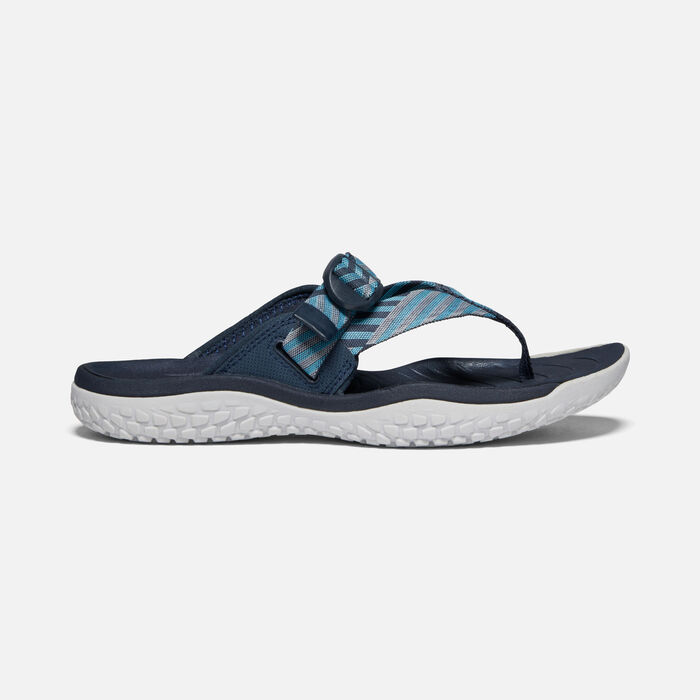 Women's SOLR Toe Post Sandals in Navy/Blue Mist - large view.