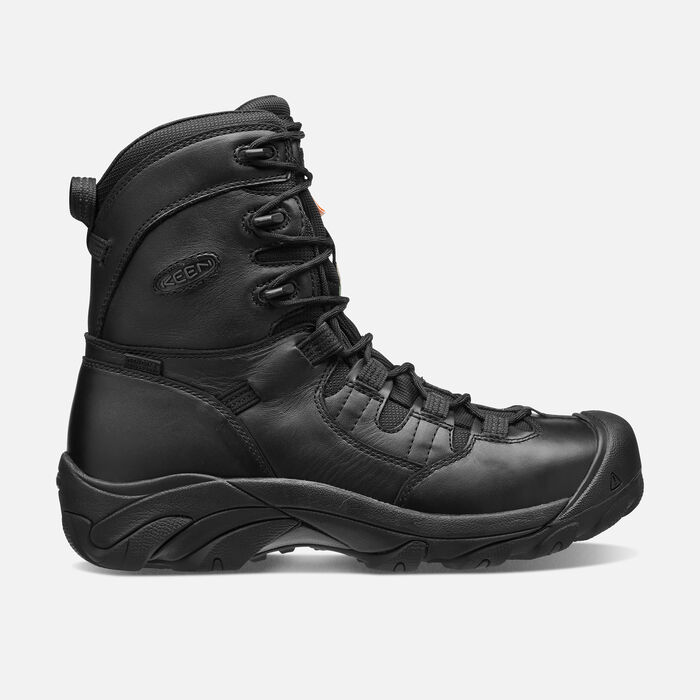 """CSA Oshawa 8"""" Boot (Steel Toe) Pour homme in BLACK - large view."""