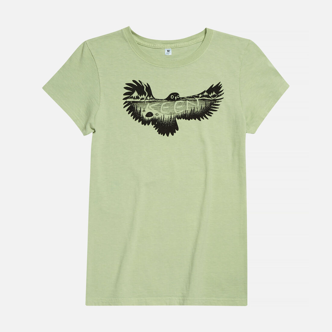 Women's KEEN Owl T-Shirt in Green Pea - large view.
