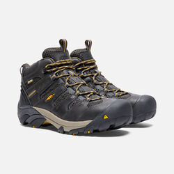 Men's LANSING Waterproof Mid (Steel Toe) in Raven/Tawny Olive - small view.