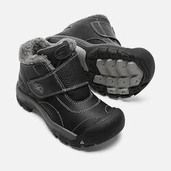 OLDER KIDS' KOOTENAY BOOTS in Black/Neutral Gray - small view.