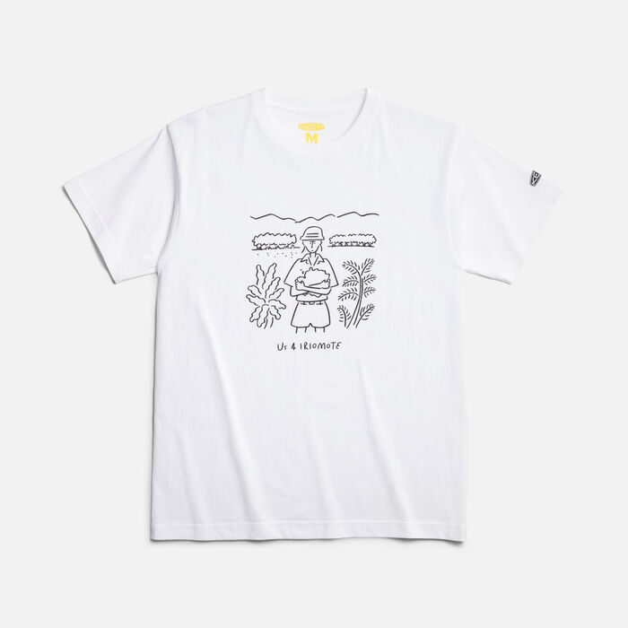 Us 4 IRIOMOTE チャリティTシャツ『守ろう』 in WHITE - large view.