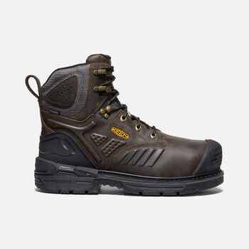 "Men's CSA Philadelphia+ 6"" Internal MET Waterproof Boot (Carbon-Fiber Toe) in CASCADE BROWN/BLACK - large view."