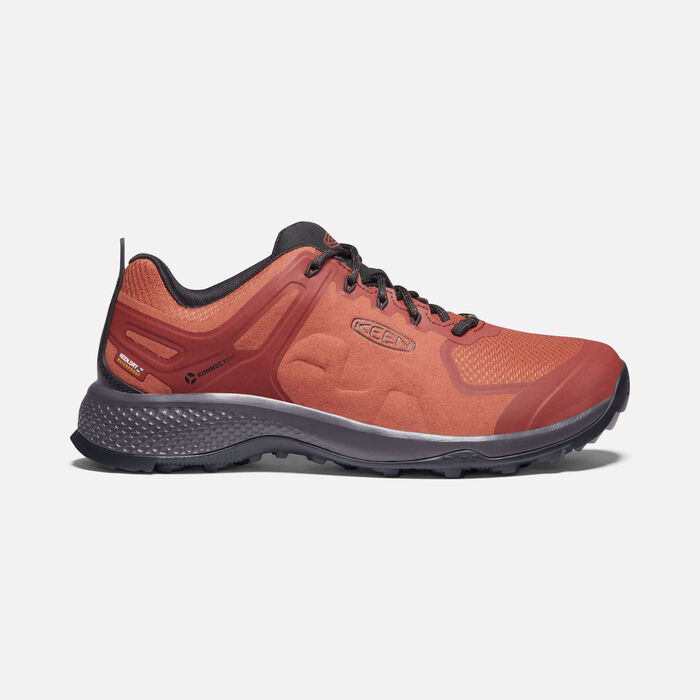 Men's Explore Waterproof Hiking Shoes in Picante/Fired Brick - large view.