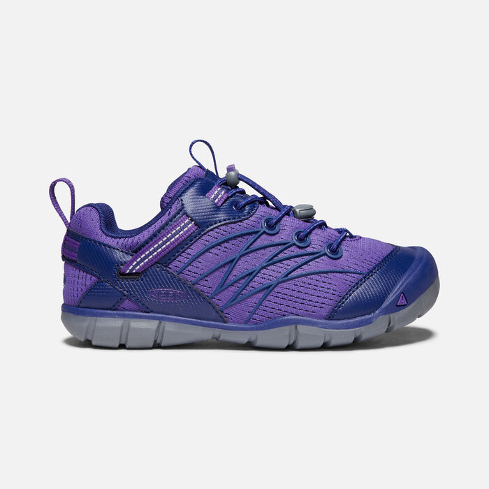 Older Kids' Chandler Cnx Trainers in Royal Purple/Blue Depths - large view.