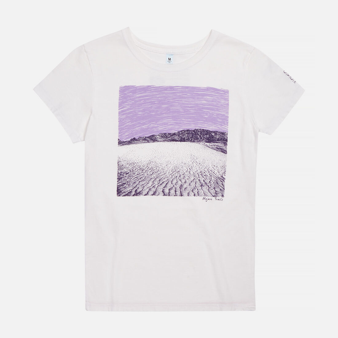 Women's Mojave Trails, CA T-Shirt in White - large view.