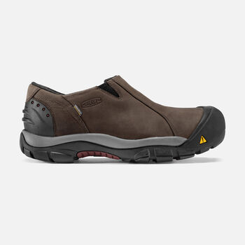 MEN'S BRIXEN LOW WATERPROOF SHOES in Slate Black/Madder Brown - large view.