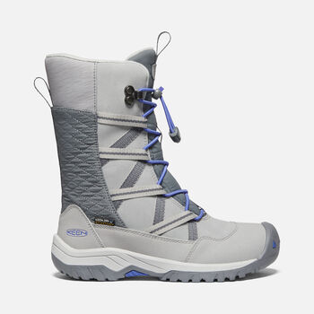 Older Kids' Hoodoo Waterproof Winter Boots in PALOMA/AMPARO BLUE - large view.