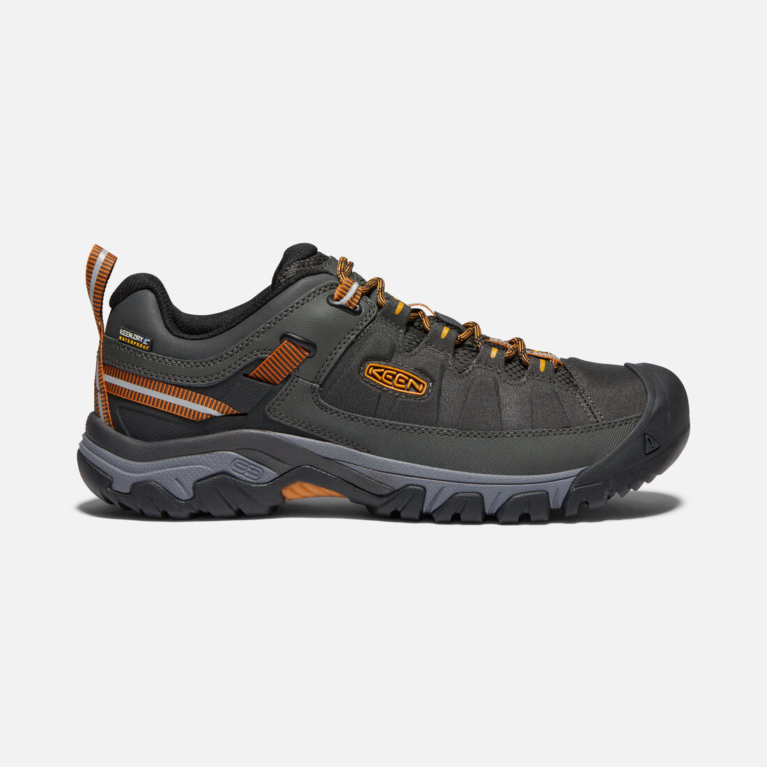 MEN'S TARGHEE EXP WATERPROOF HIKING SHOES in RAVEN/INCA GOLD - large view.