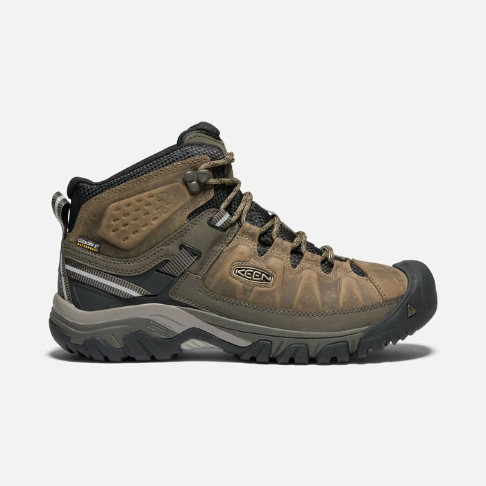 Men's Targhee III Waterproof Mid in BUNGEE CORD/BLACK - large view.