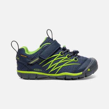 Younger Kids' Chandler Cnx Waterproof Trainers in Dress Blues/Greenery - large view.