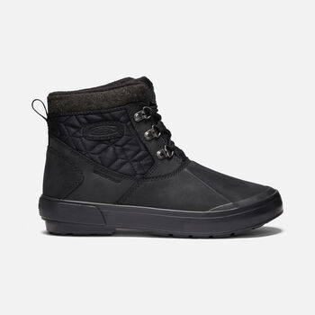 Women's Elsa II Waterproof Quilted Ankle Boot in BLACK/BLACK - large view.