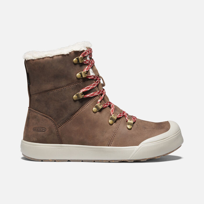 Women's Elena Waterproof Hiker Boots in Sea Lion/Plaza Taupe - large view.