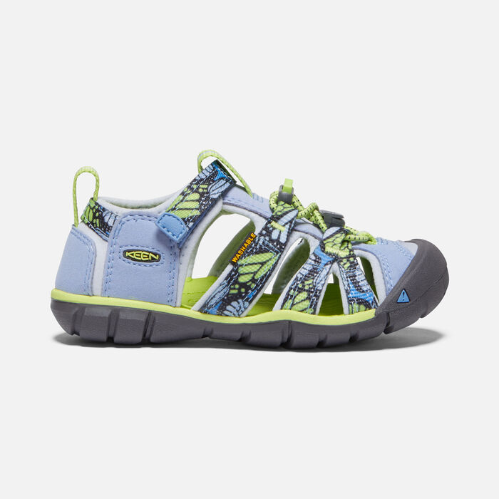 Younger Kids' Seacamp II Cnx Sandals in Hydrangea/Sharp Green - large view.