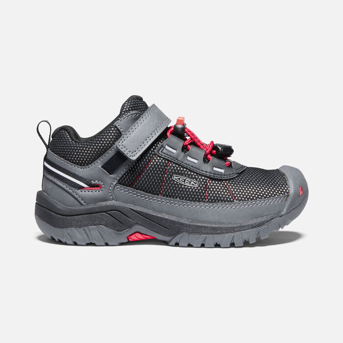 Younger Kids' Targhee Sport Vent Hiking Shoes in Steel Grey/Red Carpet - large view.