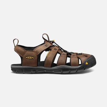 Men's Clearwater Leather Cnx Sandals in Dark Earth/Black - large view.