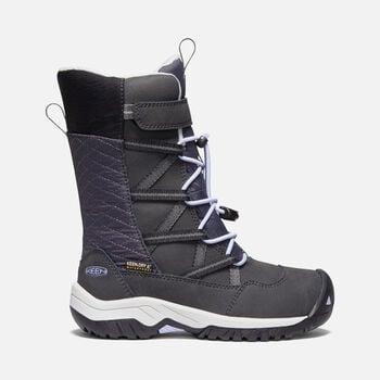 Younger Kids' Hoodoo Waterproof Winter Boots in BLACK/SWEET LAVENDER - large view.