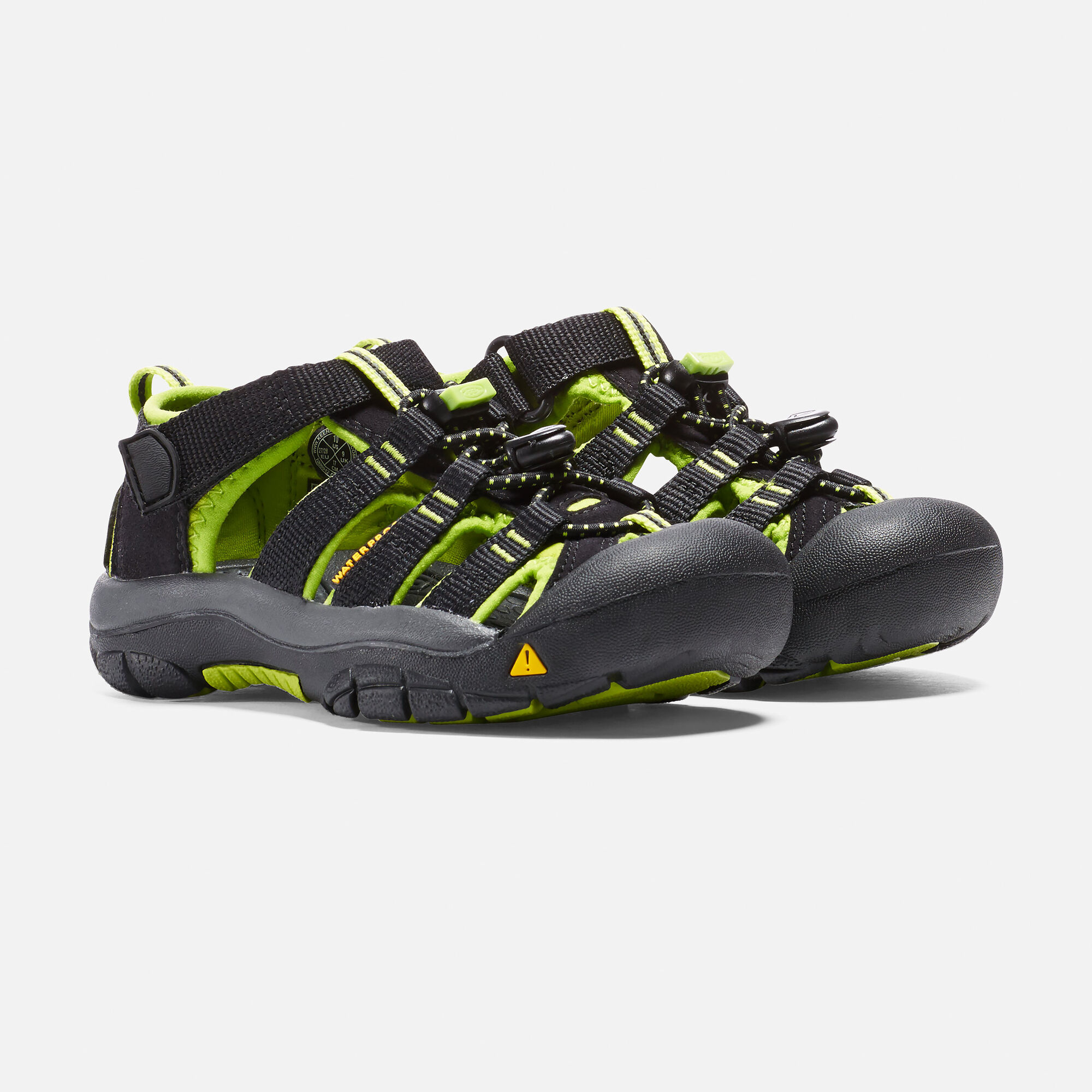 c378bb1ed6db Little Kids  Newport H2 in BLACK LIME GREEN - small view.