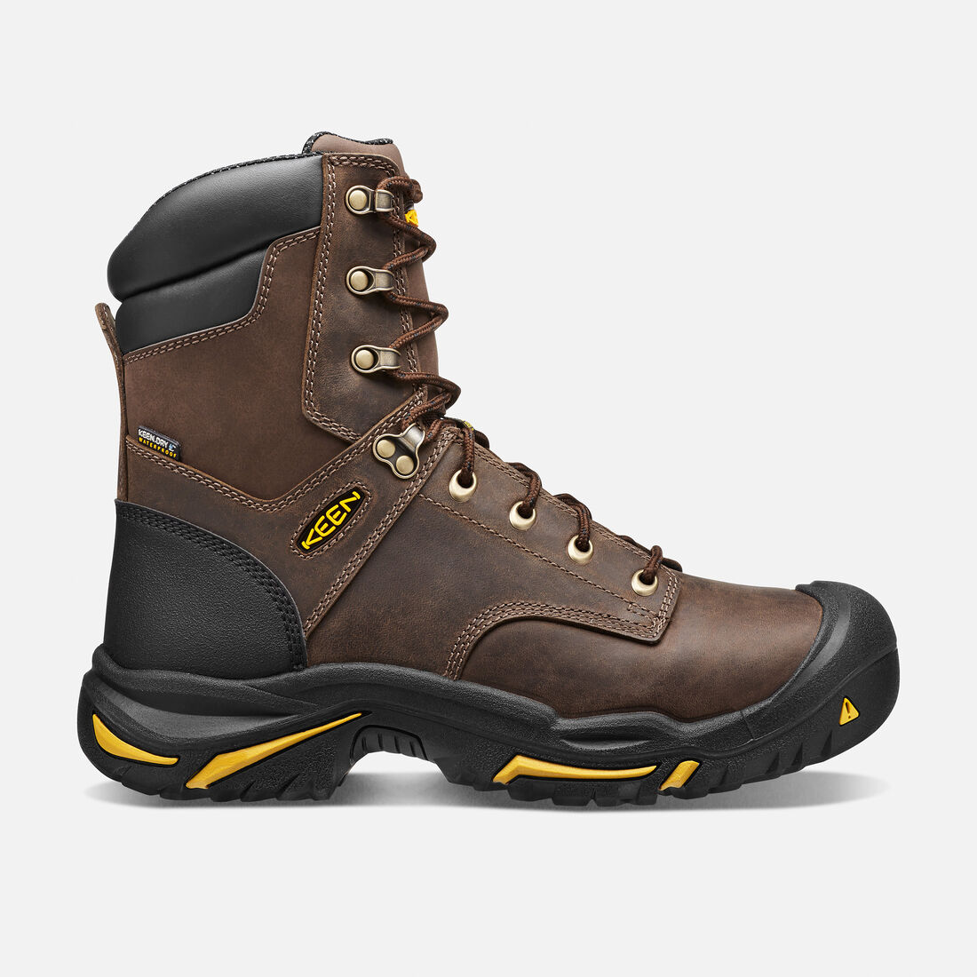 "Men's Mt Vernon 8"" Boot (Steel Toe) in Cascade Brown - large view."