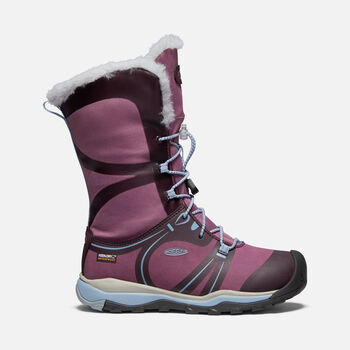 Big Kids' Terradora Winter Waterproof Boot in WINESTASTING/TULIPWOOD - large view.