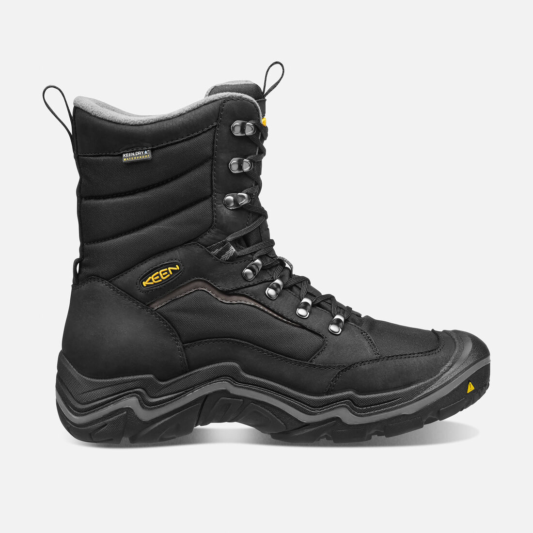 Men's Durand Polar Waterproof Boot in Black/Gargoyle - large view.
