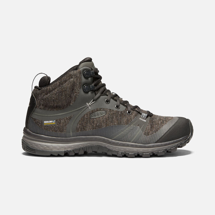 Women's Terradora Waterproof Mid in RAVEN/GARGOYLE - large view.