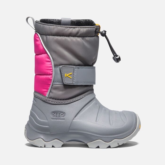 Younger Kids' Lumi Boot II Waterproof Winter Boots in Steel Grey/Pink Peacock - large view.