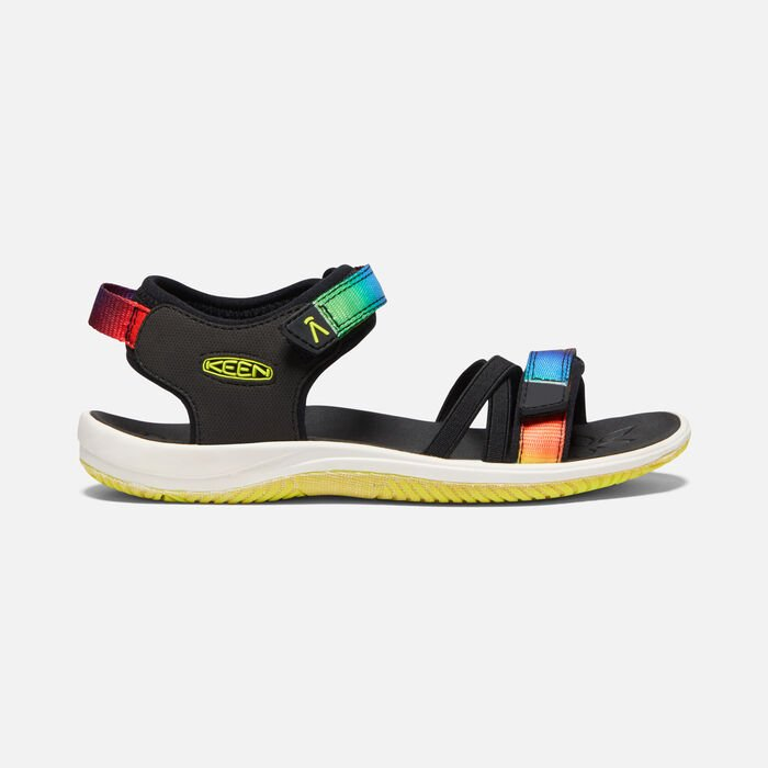 Big Kids' Verano Sandal in Black/Original Tie Dye - large view.