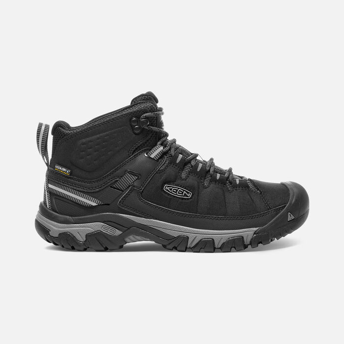 Men's Targhee EXP Waterproof Mid in BLACK/STEEL GREY - large view.