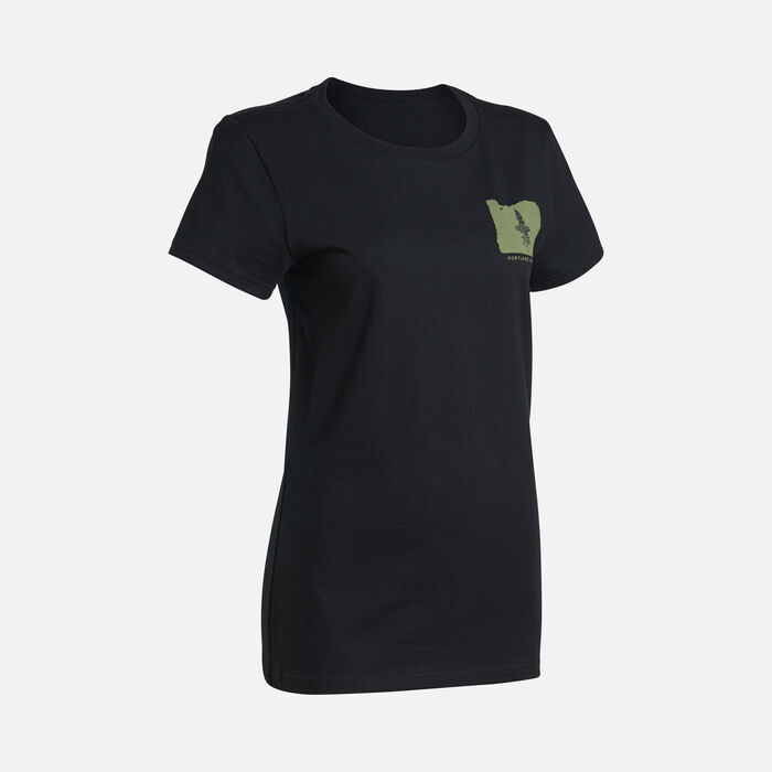 Women's PNW Tee in Black - large view.