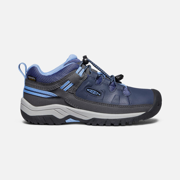 Older Kids'Targhee Waterproof Hiking Shoes in Blue Nights/Della Blue - large view.