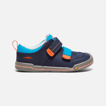 Younger Kids' Sprout Double Strap trainers in Dress Blues/Koi - large view.