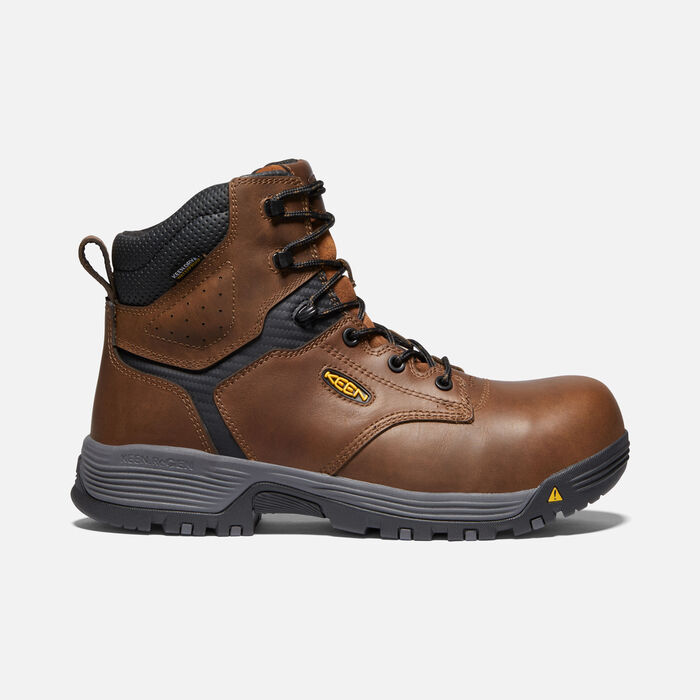 "Men's CSA Chicago 6"" Waterproof Boot (Carbon-fiber Toe) in Tobacco/Black - large view."