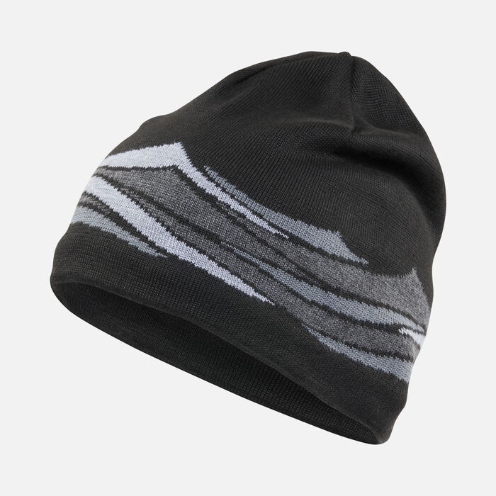 Wave Beanie in BLACK - large view.