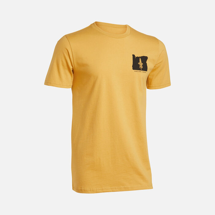 Men's PNW Tee in Honey Gold - large view.