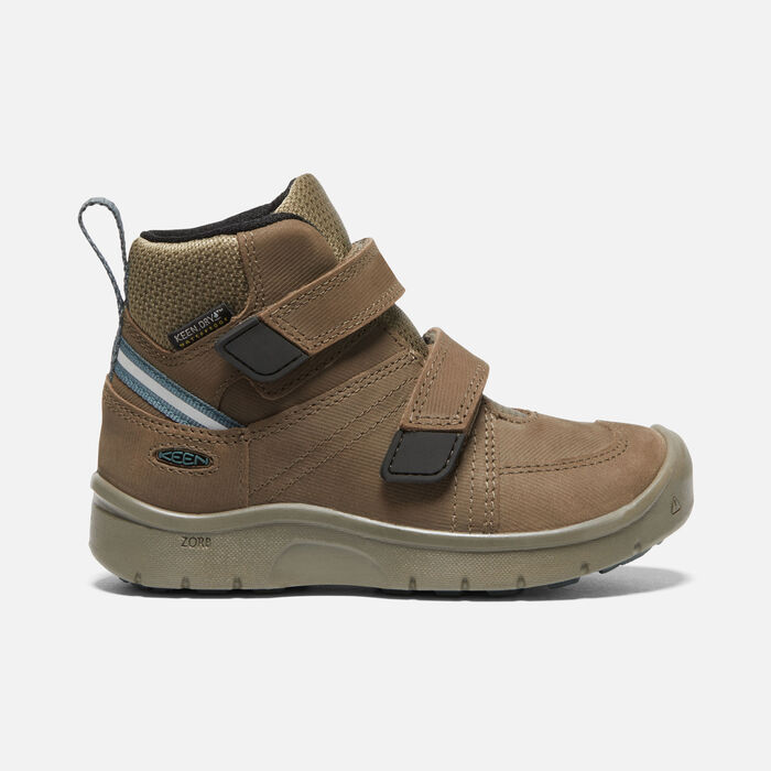 Younger Kids' Hikeport 2 Mid Strap Waterproof Trainer Boots in Canteen/Balsam - large view.