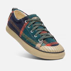 Women's ELSA Fleece Sneaker in Forest Night Wool - small view.