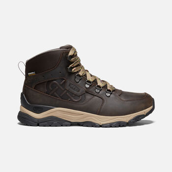 Men's Innate Ltd Leather Waterproof Hiking Boots in ROOT BROWN - large view.